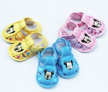 summer infant cartoon rabbit & mickey Baby Shoes Antiskid Toddlers Shoes Good quality Baby First Walkers 0-14M Prewalker