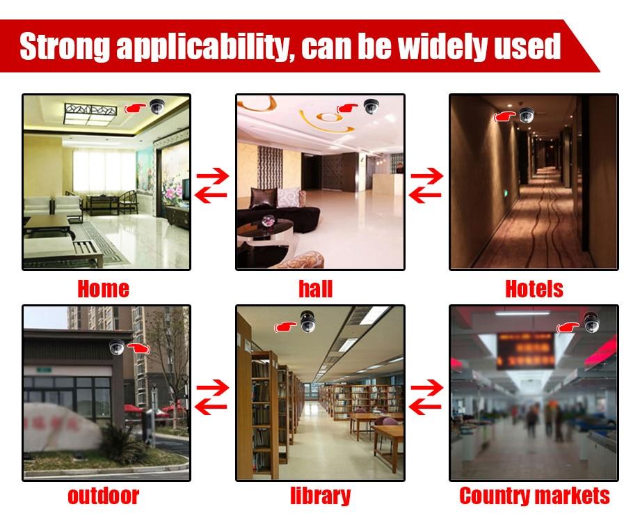 Home Security Fake Camera Surveillance indooroutdoor Waterproof IR CCTV Dummy Dome fake Surveillance camera-8