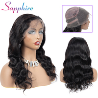 Sapphire 360 Lace Frontal Wig Peruvian Remy Lace Front Human Hair Wigs Straight 360 Wig for Black Women Full End Bleached Knot