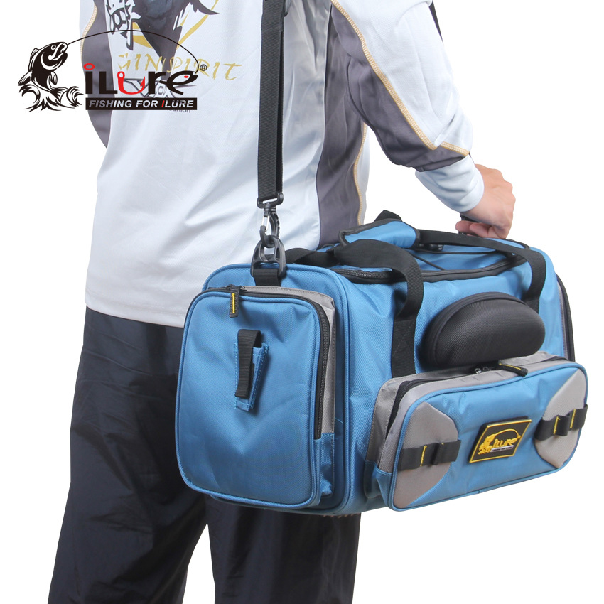 38CM iLure Multi Purpose Fishing Lure Bag Shoulder Bag Handbag Outdoor Fishing Gear Kit Waterproof Fishing