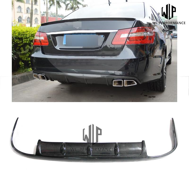 W212 Carben Fiber Rear Lip Diffuser Car Styling For Mercedes-Benz E Class E300 E350 Standard Bumper 2010-2013