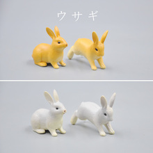4pcs/lot solid pvc Simulation model Rabbit Bunny Action Figure animal toys Home Decoration Accessories