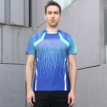 Бадминтон рубашка Для мужчин/Для женщин, спортивные Бадминтон футболка, настольный теннис рубашки, теннис одежда сухой-cool рубашка Бесплатный печати