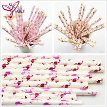 25PCS flamingo straws Christmas Wedding Luau Decoration Bridal Shower Party Supplies birthday decoration