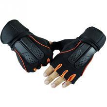 Гимнастические Бодибилдинг тренировочные спортивные перчатки для тяжелой атлетики для мужчин и женщин фитнес-упражнения перчатки с полупальцами