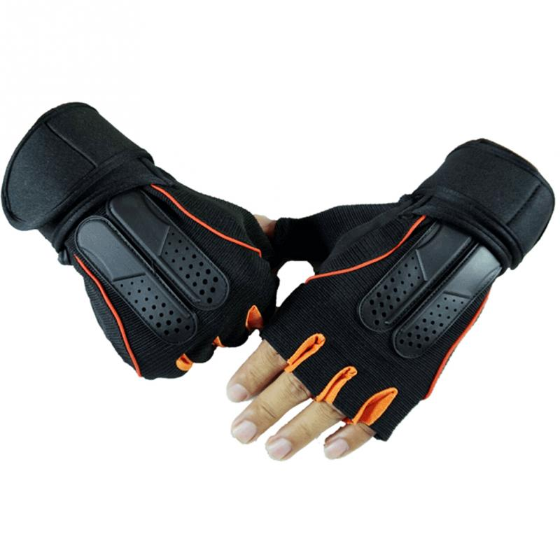 Gym Body Building Training Sports WeightLifting Gloves For Men And Women Fitness Exercise Half Finger Gloves