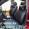 Dedicated Leather Seat Cover For Honda Civic Car Seat Covers Luxury PU Leather Seats Cover Set