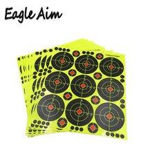 25 גיליונות (3 inch 9 pieces/גיליון) רובה ירי של עצמי דבק מתיז & תגובתי ירי מטרות עבור אקדח אקדח