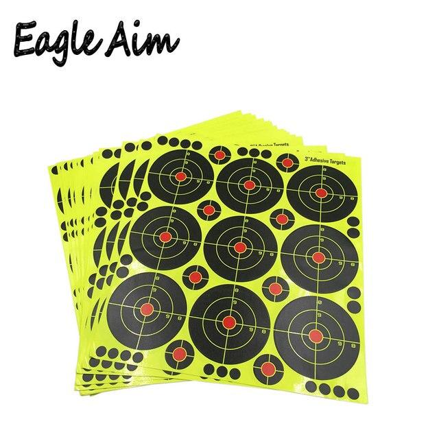 25 blatt (3 zoll 9 stücke/Blatt) gewehr Schießen von selbstklebende Splatter & Reaktiven Schießen ziele für Gun Pistole