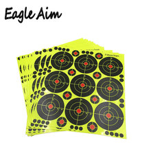 25 hojas (3 pulgadas 9 piezas/hoja) Rifle de tiro de salpicaduras autoadhesivas y objetivos reactivos de disparo para pistola