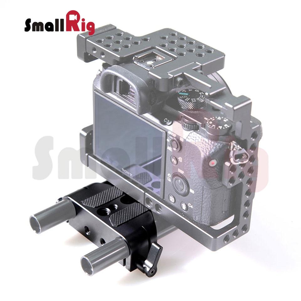 SmallRig Uniwersalny niski profil Dslr Camera Base Plate z 15mm Rod - Aparat i zdjęcie - Zdjęcie 6