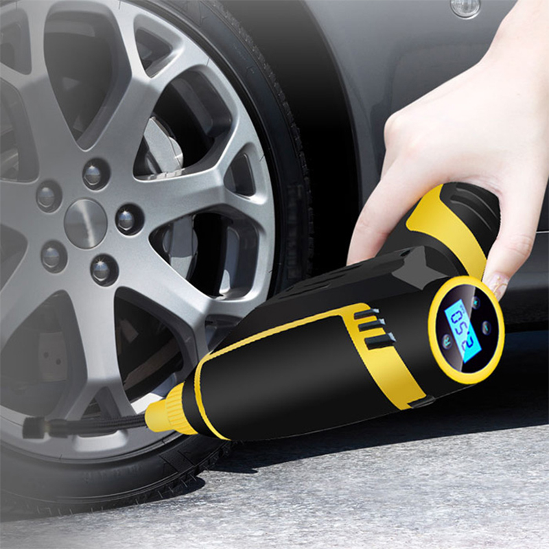 120W Car Inflatable Pump USB Charging 150PSI Cordless Handheld Electric Digital Air Compressor Pump LED Light for Motor Truck(China)