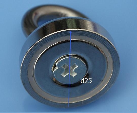Pot magnet Super powerfull D25 Neodymium Iron Boron Magnet With Circular Rings 25mmx30mm For Salvage powerfull pot magnet magnet super heavy magnetic hook holder neodymium rare earth dia 10mm hot sale 2pc