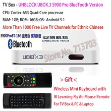 2017 IPTV UNBLOCK UBOX3 Gen.3 S900 Pro Bluetooth / EV-PAD Smart Android TV Box Malaysia Korean Japan Chinese HK TV Live Channels