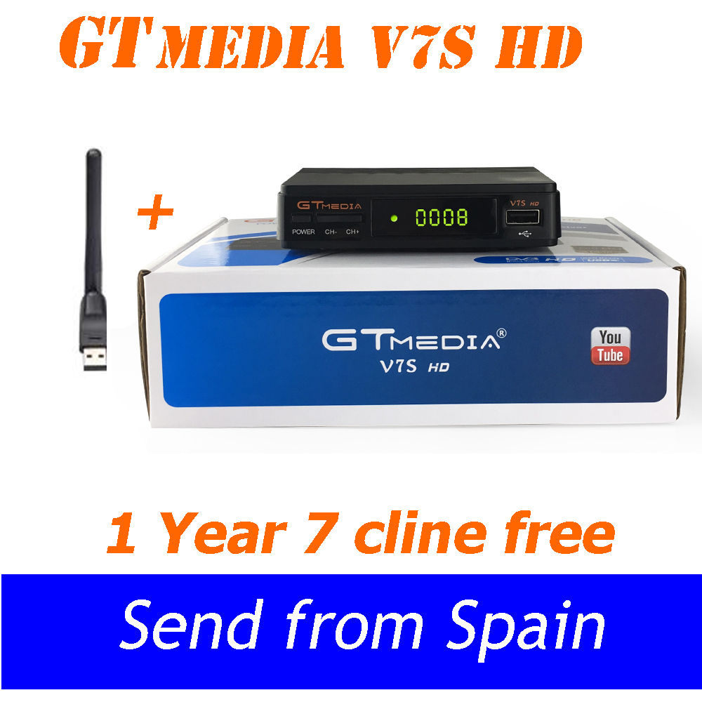 Receptor DVB S2 Satellite TV Receiver Freesat V7 upgrade to Gtmedia V7S with USB WIFI Support