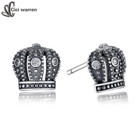 2015 New Summer Style Earing For Women 925 Sterling Silver Stud Earrings For Women Silver Royal