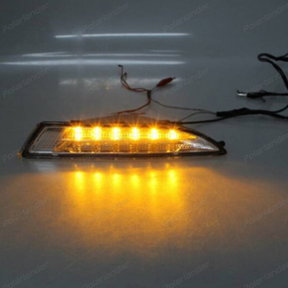 1 set Auto part Daytime running Lights LED car-styling for V/W R S/cirocco DRL 2009-2013 fog Lamp Accessory