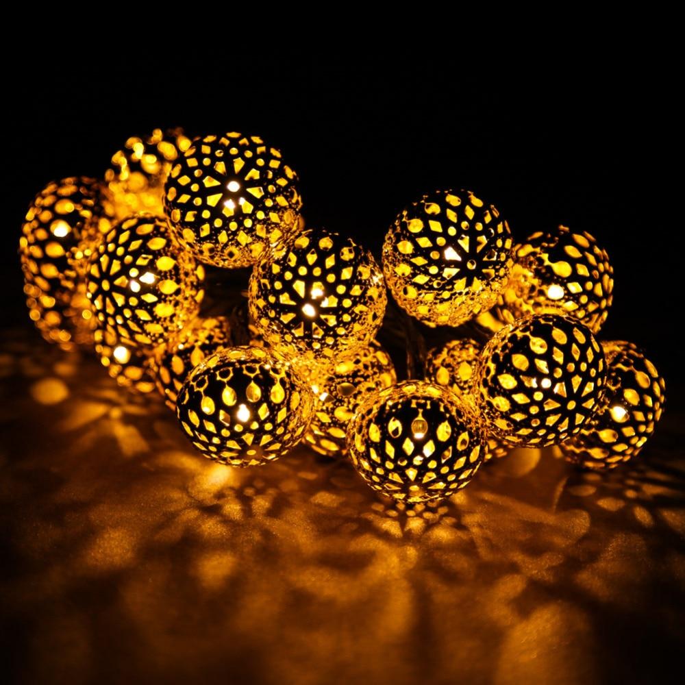 Solar Power 20 LED Lights For Garden Tree Wedding Decoration String ...