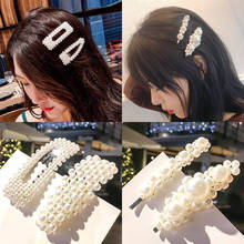 KingDeng Pearl Hair Cilps Fashion Women Head Jewelry Pin Accessories Headwear Beauty Headpiece Wedding Temperament Party