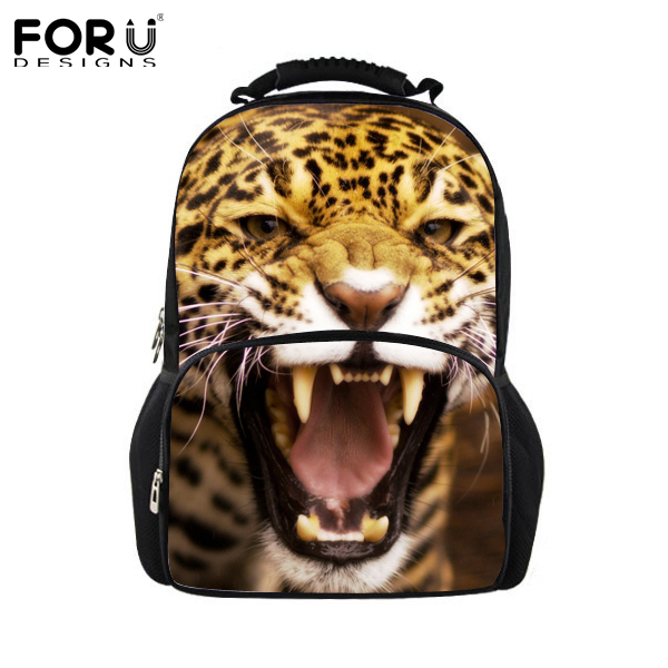 Newest Men's Travel Backpack Women Leopard Backpack,3D Animal Print Backpack  for Teenagers Jaguar Bag,Children School Backpacks