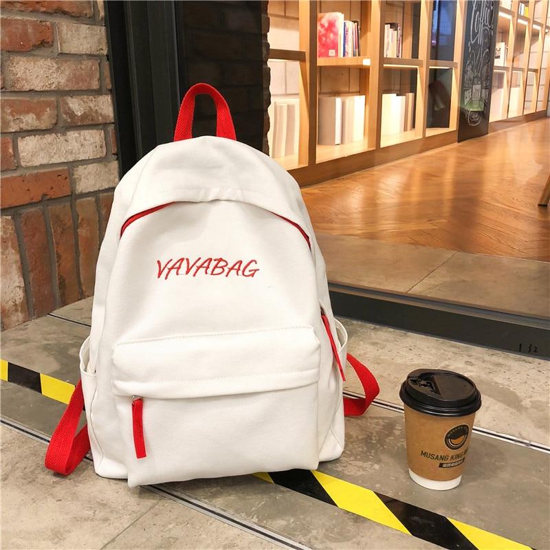 Fashion Women Backpack Canvas Backpack For Female Design Girls leisure travel school shoulder bag Rucksack Mochila Bagpack 2019 in Backpacks from Luggage Bags