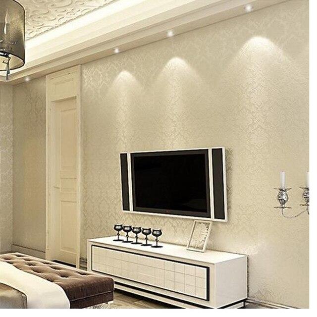Französisch Damast Gelb/Weiß Tapete Rolle Beige Damaskus Wand Papier Für  Schlafzimmer Hause Wanddekoration