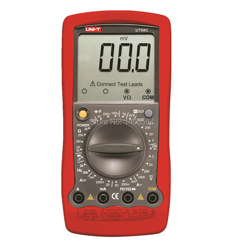 Farad Symbol On Multimeter : Uni t ut c general digital multimeters ac dc voltmeter
