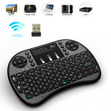 Rii Mini i8 + Mini 2.4Ghz kablosuz arka klavye oyun için Touchpad ile Google android akıllı tv kutusu IPTV HTPC PS3 Pad