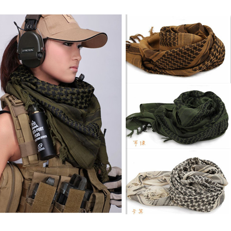 Army Military Tactical Unisex Arab Shemagh Keffiyeh Cotton -3549