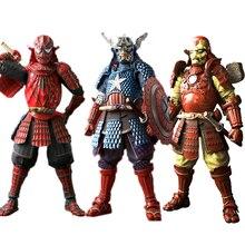 The Avenger Siêu Anh Hùng Manga Thực Hiện Samurai Captain America Spider Người Đàn Ông Koutetsu Samurai Ironman MK 3 PVC Hành Động Hình Đồ Chơi