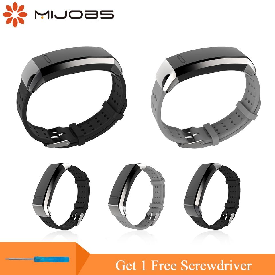 Mijobs TPU Strap für Huawei Sport Band 2 Pro B29 B19 Smart Watch - Intelligente Elektronik