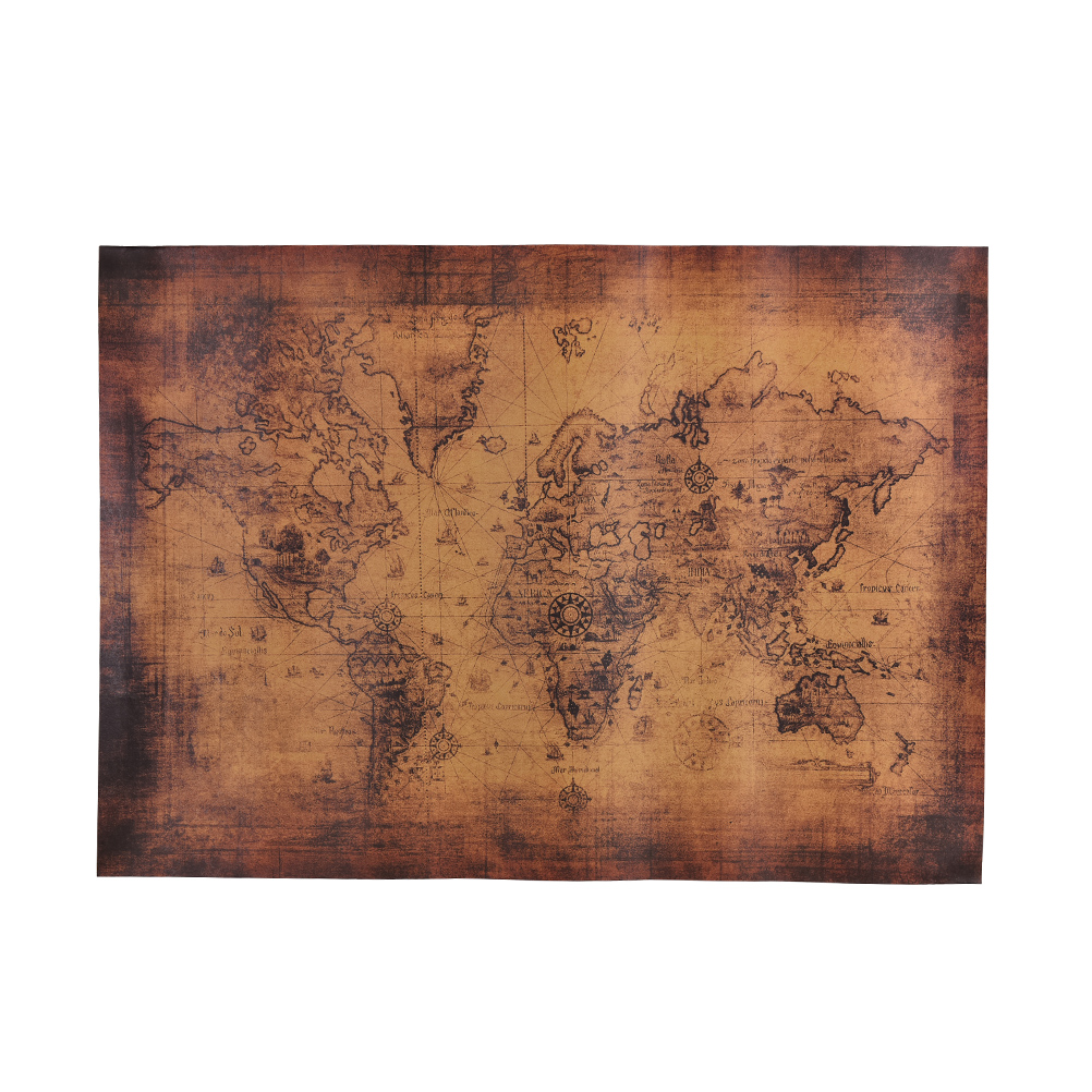 Retro Vintage Style World Map Paper Posters Retro In Wall Stickers Home Decoraction Art Word Map Large Paper Posters