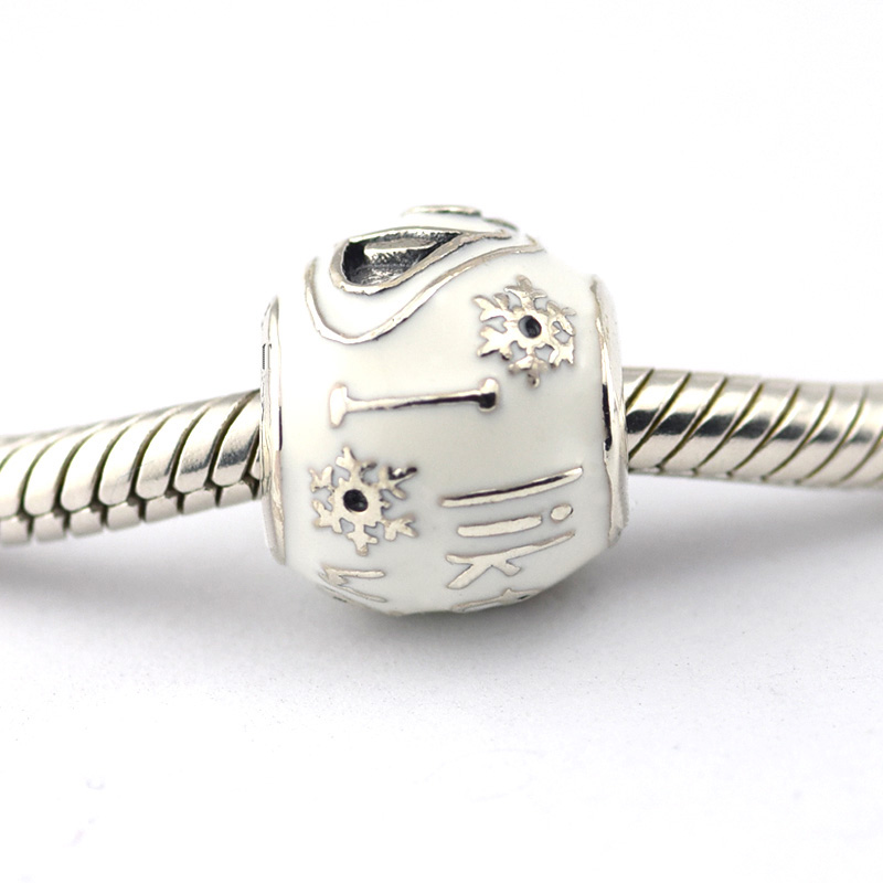Fits Pandora Bracelets I Like Warm Hugs Silver Beads With White Enamel 100 925 Sterling Charms Diy Whole In From Jewelry Accessories On