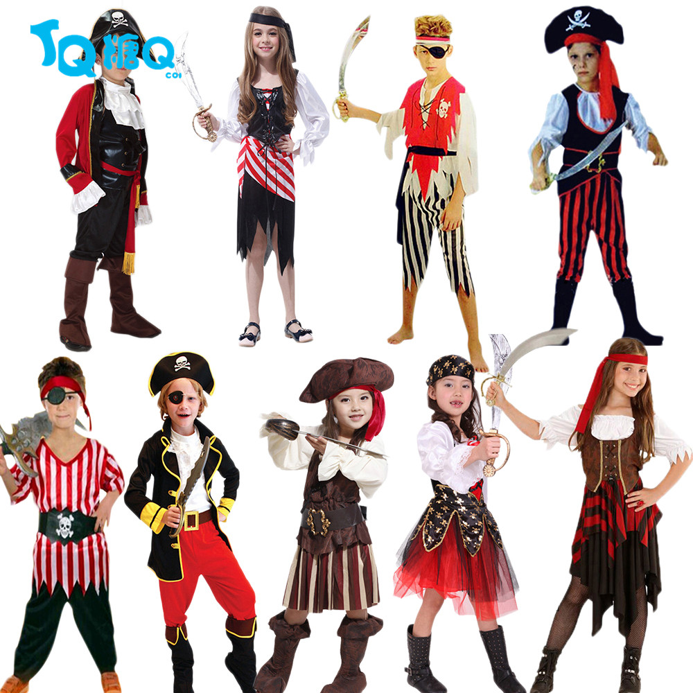 ᗐfree shipping pirates of the caribbean halloween costume for