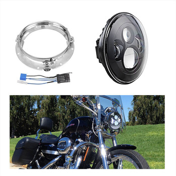 7 inch 40W LED Headlight for Harley Motorcycle Projector led light Bulb with Mounting Bracket and Wire Harness Adapter