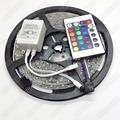Free Shipping 3528 RGB LED Strips 60led/M 300led/5M DC12V Waterproof IP65 LED Strip Light With 24Key Remote Controller LED Lamp