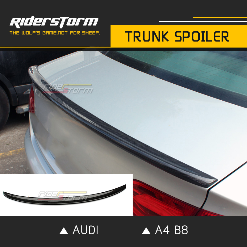 Carbon Fibre S4 Style Rear Spoiler Trunk Wing for Audi A4 B8 2009-2012 Racing Auto Car Tuning Parts Trunk Lip Rear Boot Spoiler a4 b7 abt style pu rear window roof spoiler wing lip spoiler for audi a4 b7 06 08