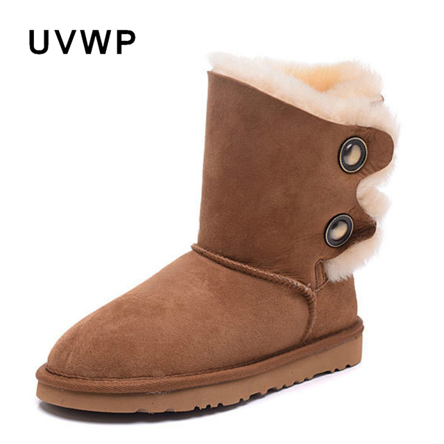 ff9946d0ac5 Top Quality Genuine Sheepskin Snow Boots 100% Natural Fur Real Wool Women  Winter Snow Boots