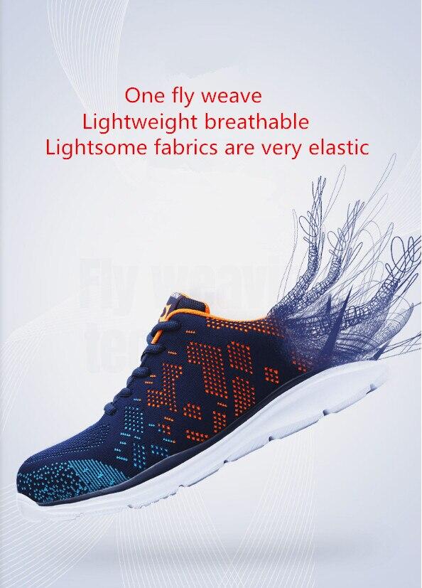 Com Construção Aço Leves De Para Preto colorido Sapatos Biqueira Reflexivo esmagamento Anti Homens Xwdvv Sapatilha multi Trabalho Segurança Respirável C7d6nBnx