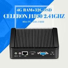 Мини-Компьютер, Celeron J1800, ОПЕРАТИВНАЯ ПАМЯТЬ 4 Г 32 Г SSD, С WI-FI, Тонкий Клиент, Настольный Случай компьютера, Может OEM/ODM, 1080 P HD Видео
