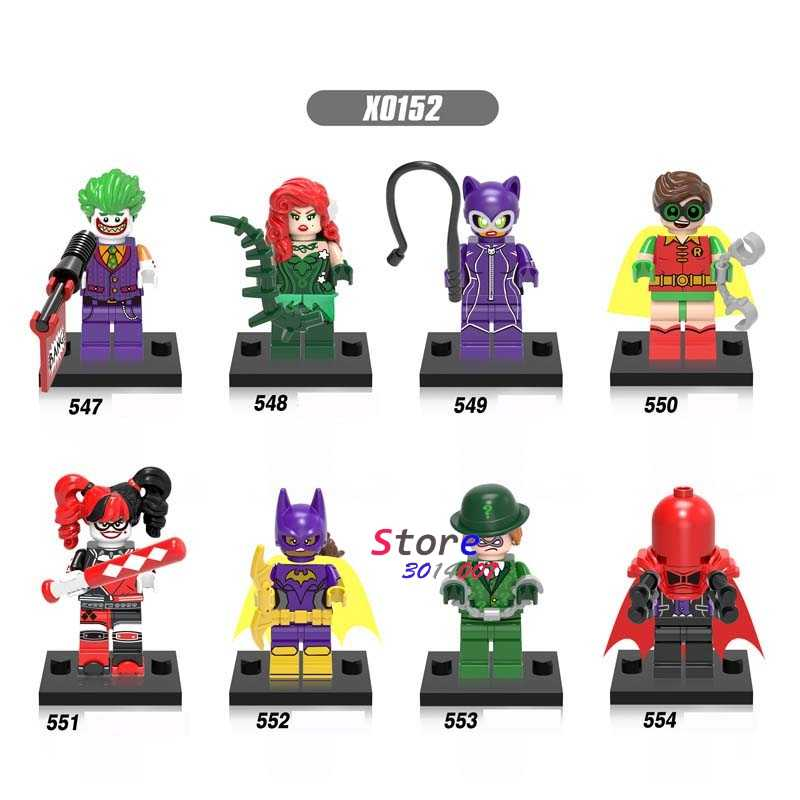 1 sztuk modelu klocki superhero Joker trucizna Ivy Catwoman Robin Ridder harley Quinn zabawki dla dzieci prezent