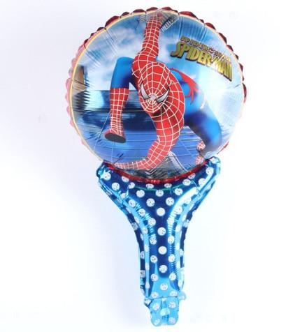 1 pcs mão vara Spiderman Balão de Hélio Foil Balões Dos Desenhos Animados do homem-Aranha Decoração de Casamento Suprimentos Balão Para O Menino Brinquedo