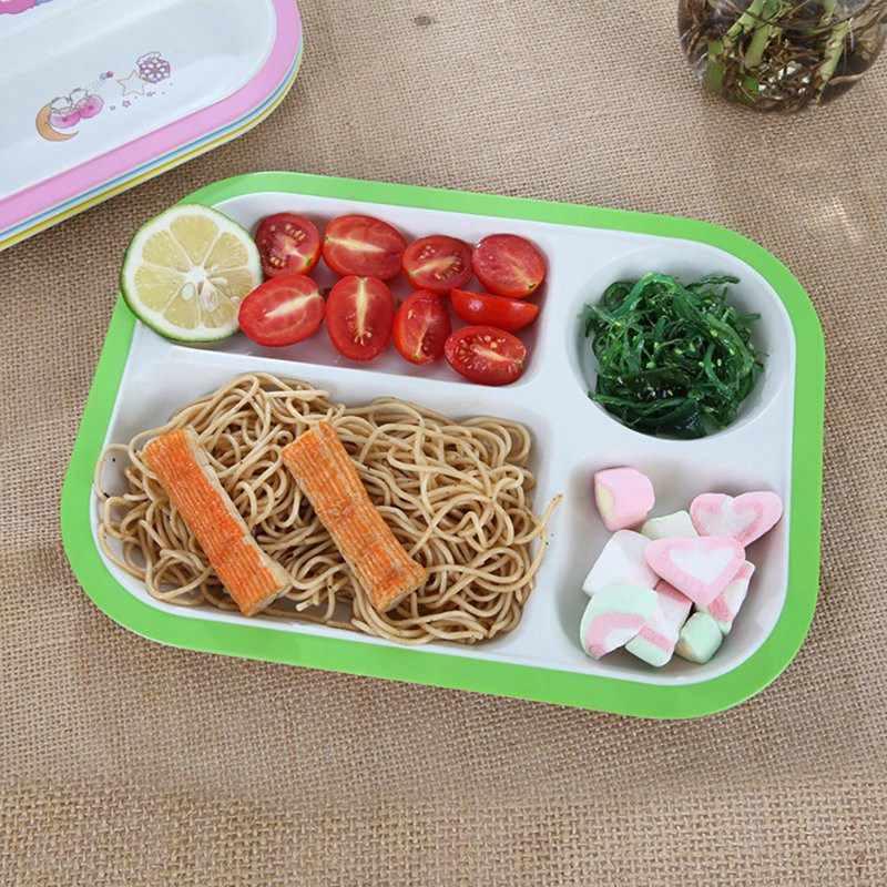 1 шт. детская миска, детская посуда с рисунком, комплект, детский обеденный тарелка, Детская тренировочная чаша, ложка, вилка для детей, 2019