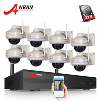 ANRAN 8CH P2P 1080P WIFI NVR 30 IR Outdoor Vandal Proof Dome Wireless IP Camera Surveillance
