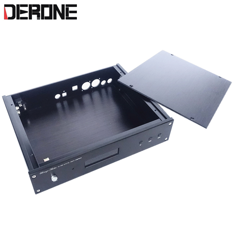 Aluminum case for decoder <font><b>board</b></font> weiliang ES9018 9028PRO ES9038PRO with USB RCA <font><b>optical</b></font> Coaxial interface hole 2806 <font><b>DAC</b></font> chassis image