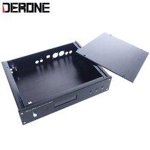 Nhôm trường hợp cho board giải mã weiliang ES9018 9028PRO ES9038PRO với USB RCA quang học Đồng Trục giao diện lỗ 2806 DAC chassis
