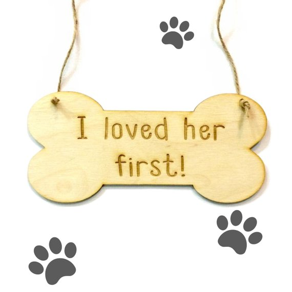 Aliexpress Custom Wooden Sign Dog Engagement Photo Prop Wedding Announcement I Loved Her First Bone From Reliable Signature Guest Books