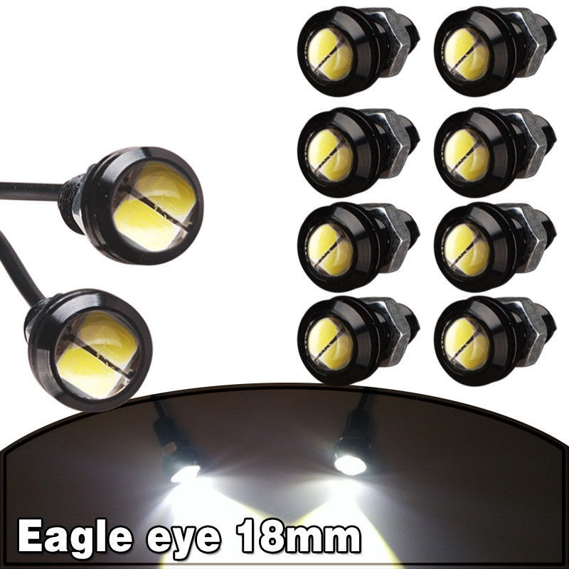 CYAN SOIL BAY 10 X 9W 18mm 12V 2 LED White LED Eagle Eye Light Car Fog DRL Daytime Reverse Backup Parking Signal