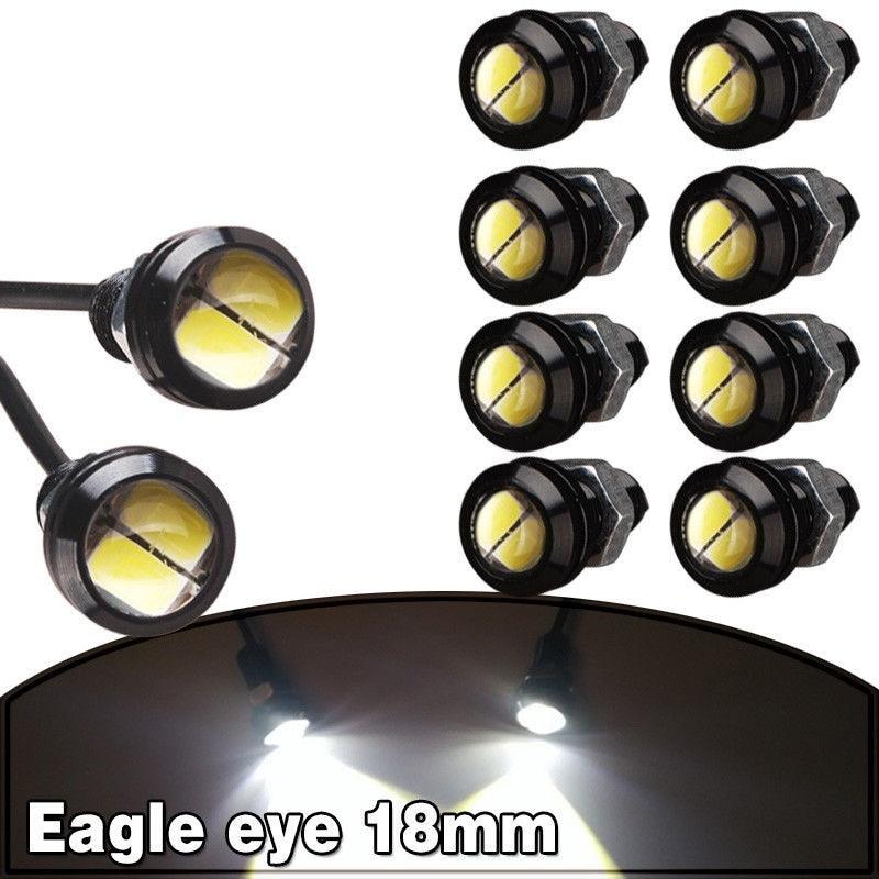 Голубой залив почвы 10 х 9W 18мм 12В 2 LED Белый светодиодный свет глаз Орла тумана автомобиля DRL дневные Обратный Резервный парковки сигнала