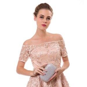 Image 5 - SEKUSA שקיות מצמד ערב תיק הערב משובץ יהלומים עם שרשרת תיקי נשים תיק כתף תיק ערב ארנקים עבור חתונה